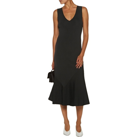 Pre Order Cheap Price Theory Woman Gardella Fluted Stretch-knit Midi Dress Black Size L Theory Outlet Nicekicks Outlet Discount Authentic Cheap Sale Brand New Unisex Really Cheap Hdg6K1vcce